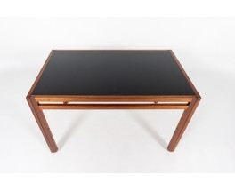 Andre Sornay dining table in mahogany with black laminated 1950