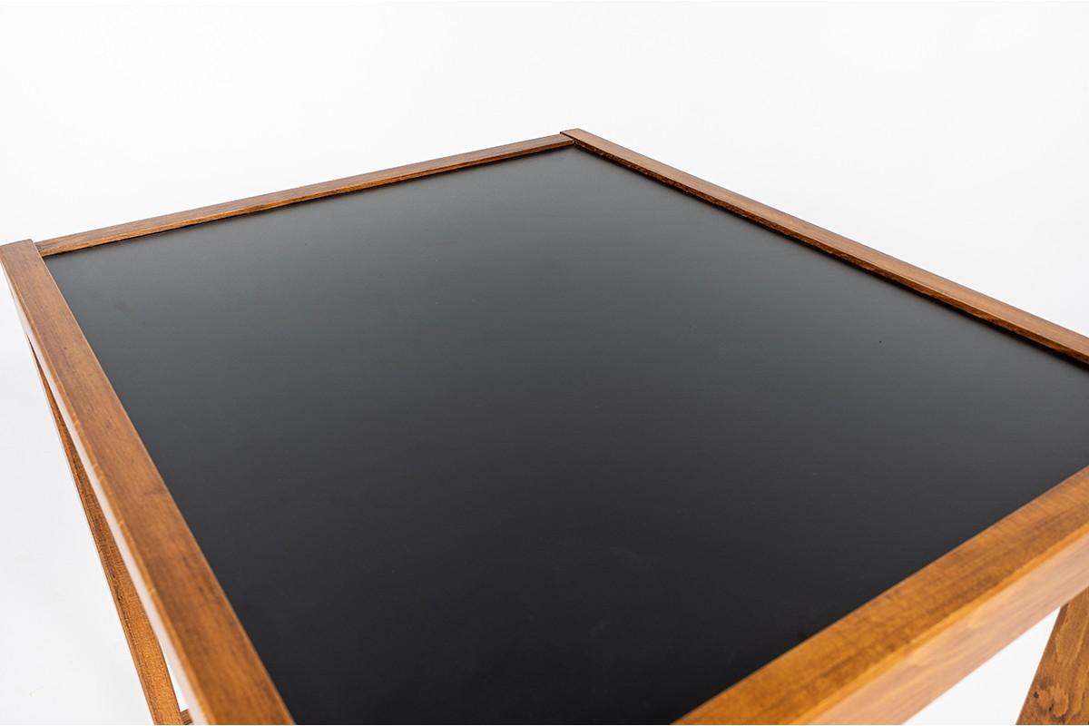 Bureau André Sornay petit modèle stratifié noir 1950