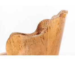 Armchairs in walnut burl and Pierre Frey fabric 1930