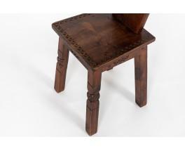Chair in pine Breton design 1950