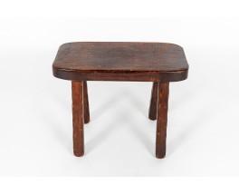 Table basse rectangulaire en chêne 1950