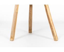 Pedestal table in oak brutalist design 1950