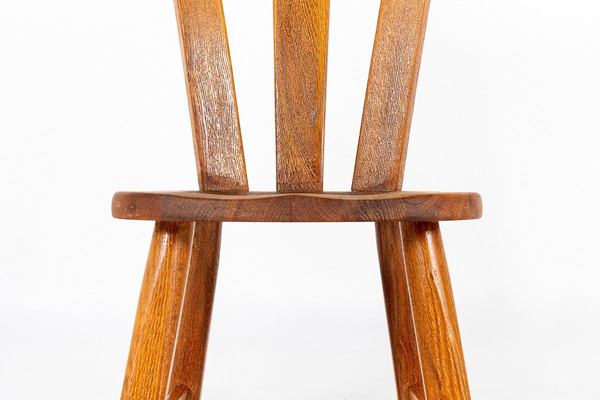 Chairs in oak large model 1950 set of 2