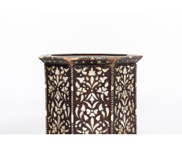 Stools in wood and mother-of-pearl Syrian design 1950