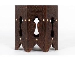 Tabourets bois et nacre design syrien 1950