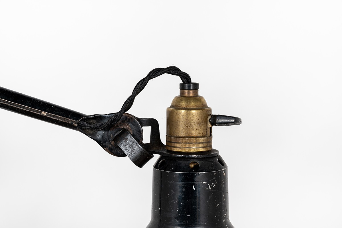 Lampe Bernard Albin Gras modèle 201 abat-jour dessinateur 1930