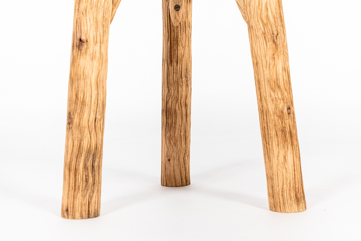 Stools in brushed oak 1950 set of 6
