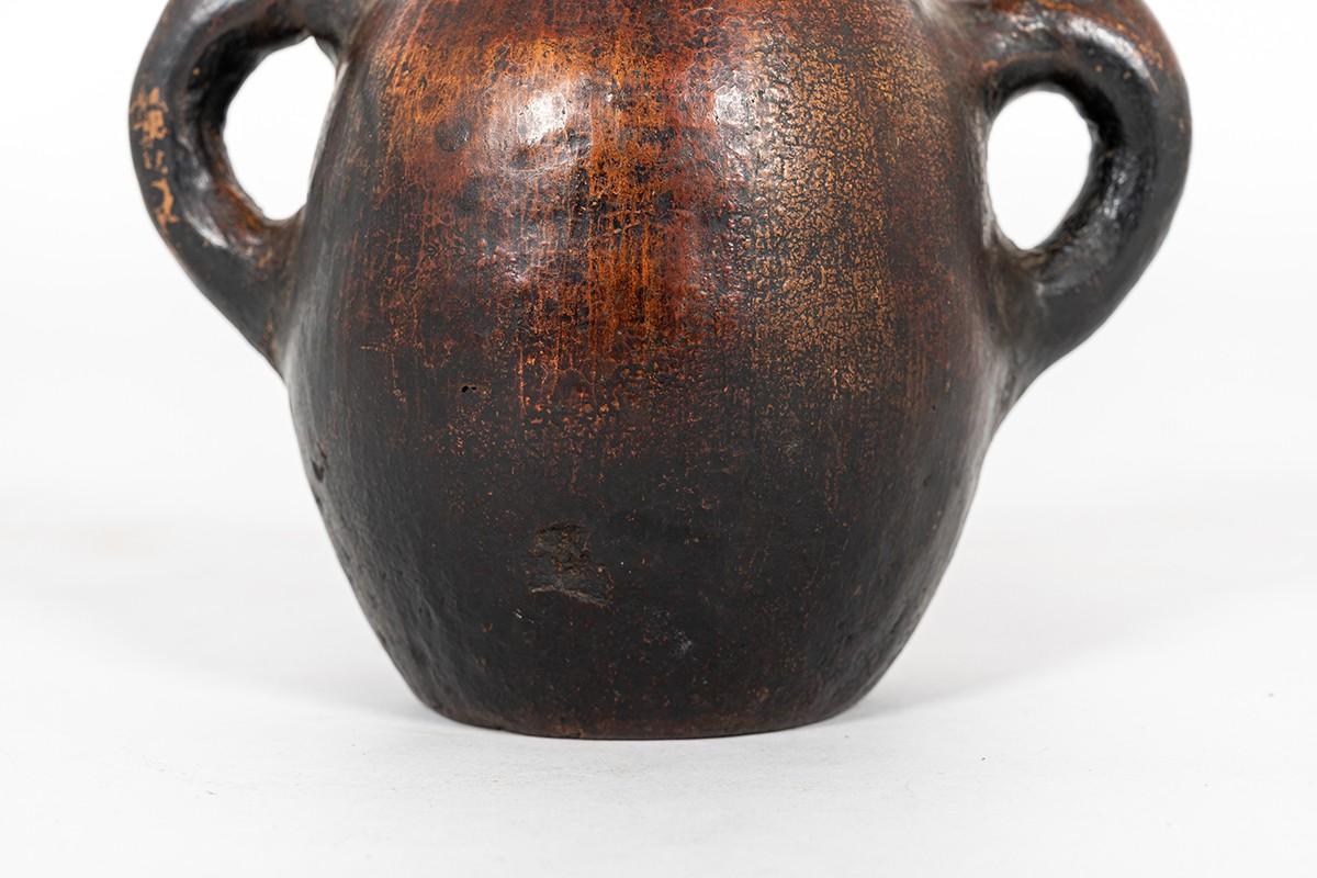 Vase in stoneware Ethnic design 1960