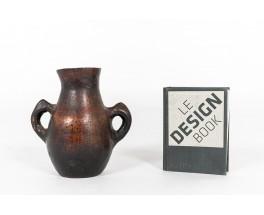 Vase en grès design ethnic 1960
