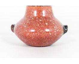 Vase en céramique moucheté Accolay 1960
