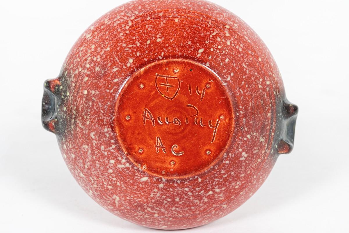 Accolay vase in speckled ceramic 1960
