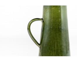 Vase en céramique verte glacée 1960