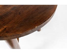 Tripod pedestal table in walnut 1950