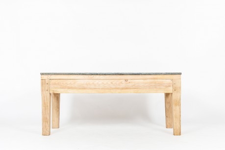 Console table in oak with granite top 1950