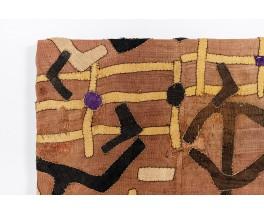 African textile canvas in raffia 1900