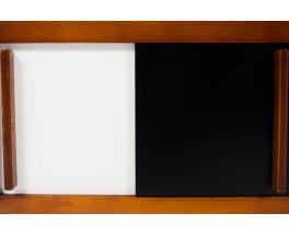 Chevets Andre Sornay laque blanche et noire 1950 set de 2